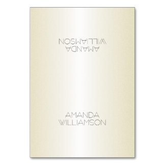 Elegant Champagne Printed Name Tented Place Cards Table Card