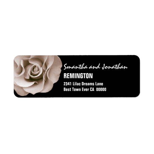 Elegant Champagne Wedding Rose Modern Typeface V07