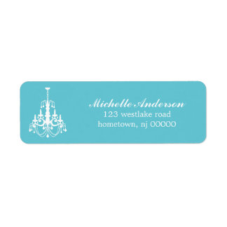Elegant Chandelier Address Labels