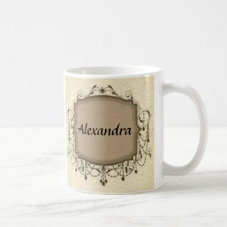Elegant Chandelier Frame Personalized Name Coffee Mug