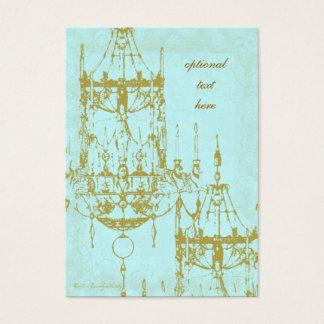 Elegant Chandelier Vintage Patina Business Cards