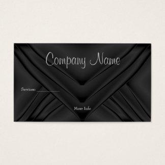 Elegant Charcoal Silk Purse Company Business Card