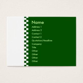Elegant Checker Profile Card