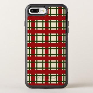 Elegant Checkers Christmas Pattern | Phone Case