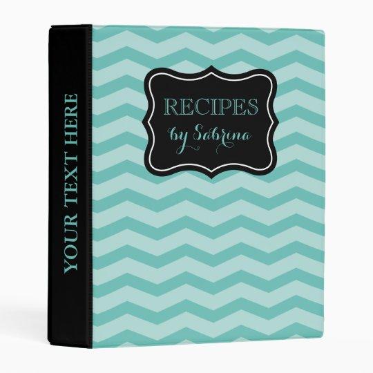 Elegant Chevron Avery Mini Recipe Binder Book