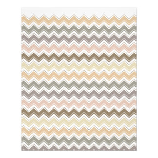 Elegant Chevron Designer's Earth Tone Pattern Flyer