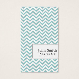Elegant Chevron Stripes Journalist Business Card