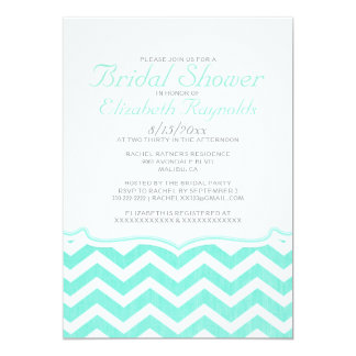 Elegant Chevron Zigzag Bridal Shower Invitations