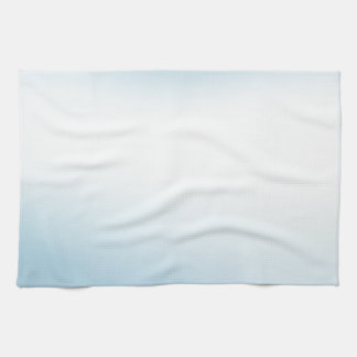 Elegant & Chic Beautiful Baby Blue White Watercolo Kitchen Towel