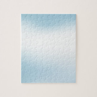 Elegant & Chic Beautiful Baby Blue White Watercolo Puzzle