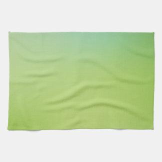 Elegant & Chic Beautiful Blue and Green Watercolor Towels