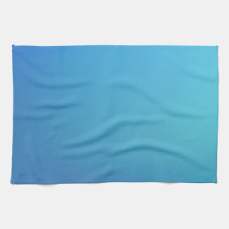 Elegant & Chic Beautiful Blue and Teal Watercolor Hand Towels