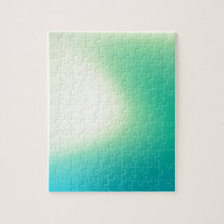 Elegant & Chic Beautiful Blue and Teal Watercolor Jigsaw Puzzle