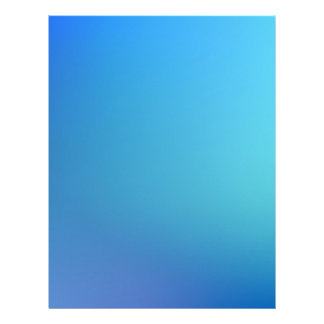 Elegant & Chic Beautiful Blue and Teal Watercolor Letterhead