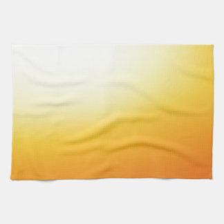 Elegant & Chic Beautiful Golden Sun Watercolor Hand Towels