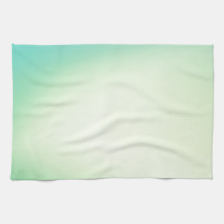Elegant & Chic Beautiful Teal and Gold Watercolor Hand Towels