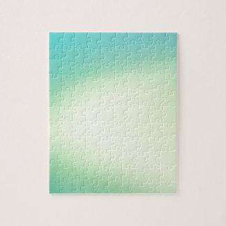 Elegant & Chic Beautiful Teal and Gold Watercolor Puzzle