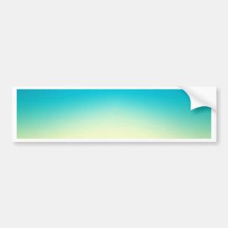 Elegant & Chic Blue Teal Gold Ombre Watercolor Bumper Sticker