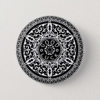 Elegant chic boho stylish floral pattern 2 inch round button