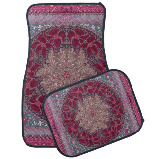 Elegant chic boho stylish floral pattern car mat