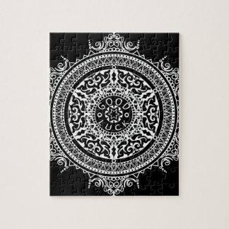 Elegant chic boho stylish floral pattern jigsaw puzzle