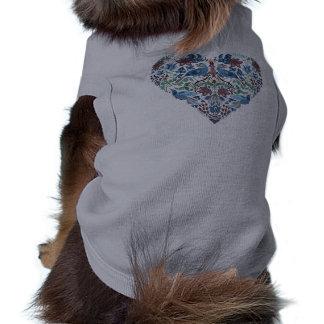 Elegant chic boho stylish floral pattern pet tshirt