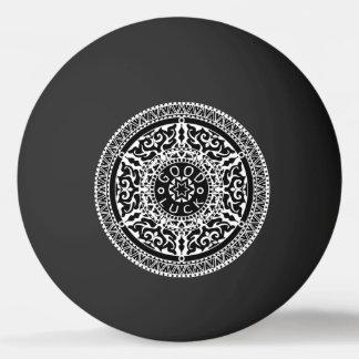 Elegant chic boho stylish floral pattern ping pong ball
