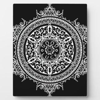 Elegant chic boho stylish floral pattern plaque