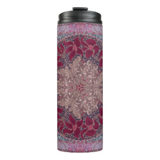 Elegant chic boho stylish floral pattern thermal tumbler
