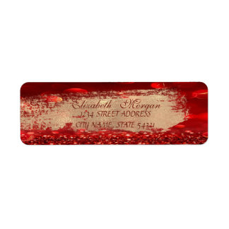 Elegant Chic Bokeh,Brush Stroke Address Label