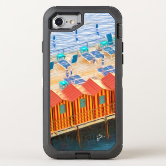 Elegant Chic Cabanas of Sorrento OtterBox Defender iPhone 8/7 Case