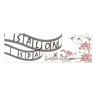Elegant chic contemporary floral filmstrip salon business card