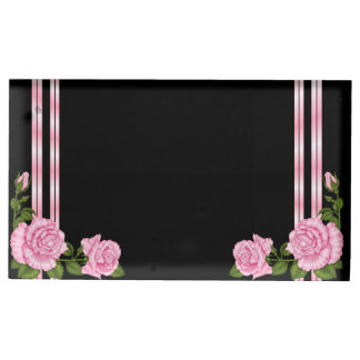 Elegant Chic Corner Rose Bouquet Wedding Table Card Holder