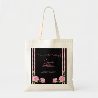 Elegant Chic Corner Rose Bouquet Wedding Tote Bag