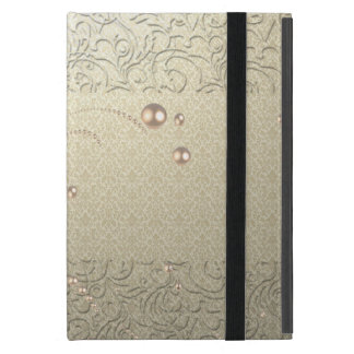 Elegant Chic Damask Lace Pearls Cases For iPad Mini