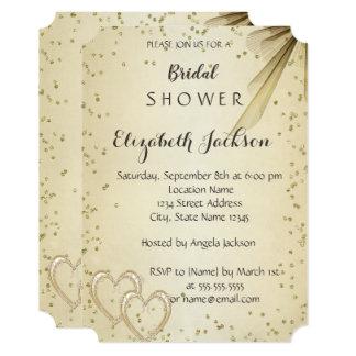 Elegant Chic Diamonds  Bridal Shower Card
