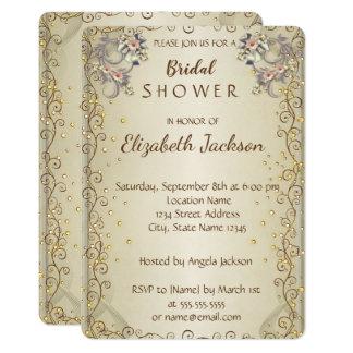 Elegant Chic Flowers  Bridal Shower Card
