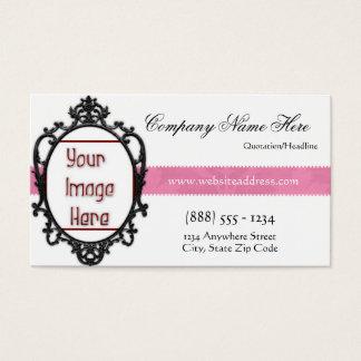 Elegant Chic Frame Add Photo Business Card 2