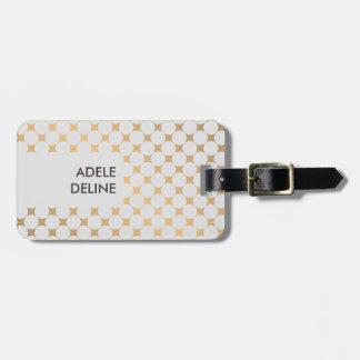 Elegant Chic Girly Silver Dots Luggage Tag