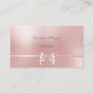 Chic bow business cards profile cards zazzle ca elegant chic glamourous pink ribbon bow business card colourmoves