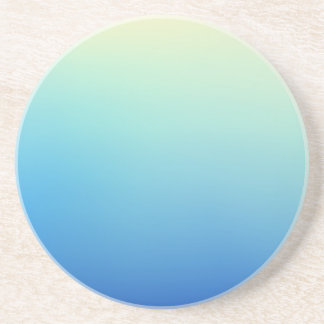 Elegant & Chic Gold Teal Blue Ombre Watercolor Beverage Coasters