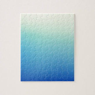 Elegant & Chic Gold Teal Blue Ombre Watercolor Puzzle