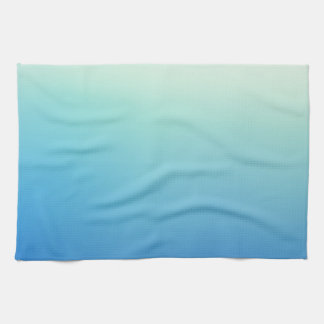Elegant & Chic Gold Teal Blue Ombre Watercolor Towel