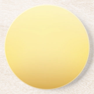 Elegant & Chic Golden Sun Ombre Watercolor Drink Coaster