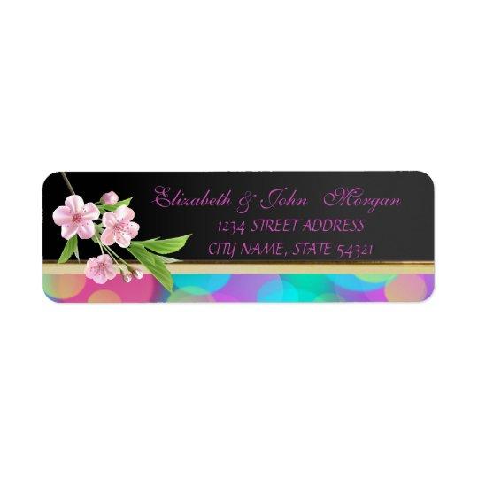 Elegant  Chic Luxury ,Cherry Tree Return Address Label