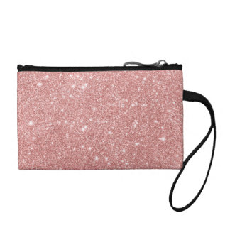 Elegant Chic Luxury Faux Glitter Rose Gold Coin Purse