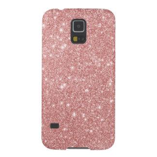 Elegant Chic Luxury Faux Glitter Rose Gold Galaxy S5 Case