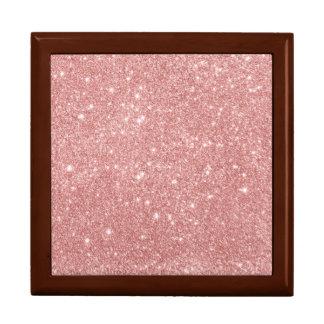 Elegant Chic Luxury Faux Glitter Rose Gold Gift Box