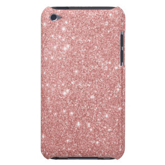 Elegant Chic Luxury Faux Glitter Rose Gold iPod Touch Case