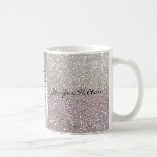 Elegant chic luxury faux glittery coffee mug